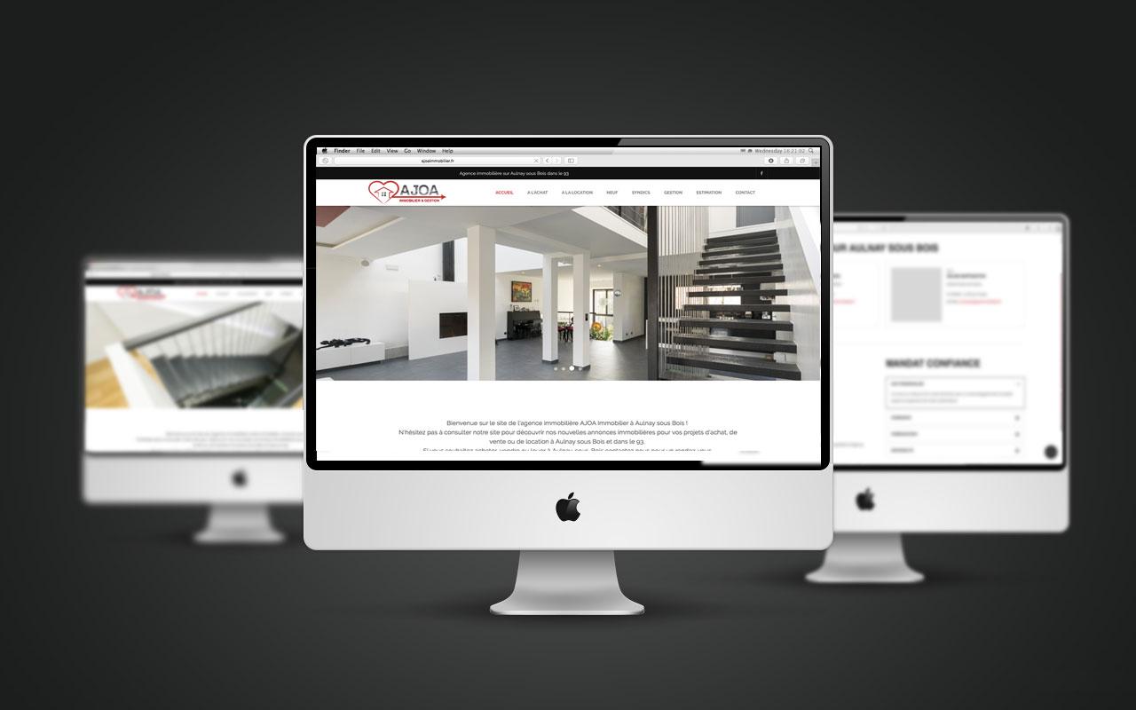 60e9fe54b92519 Création site internet pour Agence Immobiliere